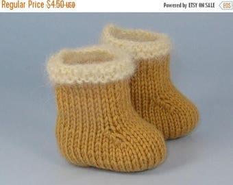 40% OFF SALE Digital pdf file Knitting Pattern -Baby Simple Fur Trim Booties (Boots) knitting pattern- MADMONKEYKNITS