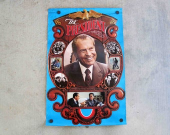 Vintage Richard Nixon Re-Election Poster. Circa 1972.