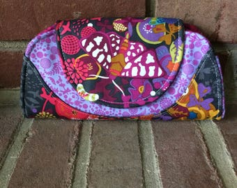 Cleo Everyday Wallet in Alison Glass Ex Libris and Endpaper Fabrics