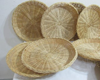 Wicker Paper Plate Holder Set of 10