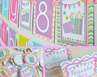 Sleepover Birthday Party Fully Assembled Decorations | Slumber party | Sleepover Party| Slumber Birthday Party | Girls Sleep over