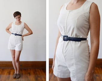 Ship n Shore 1960s White Romper - S