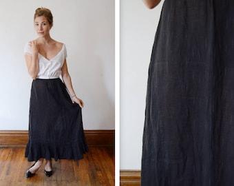 1900 1910s Gauze Black Petticoat - XS/S