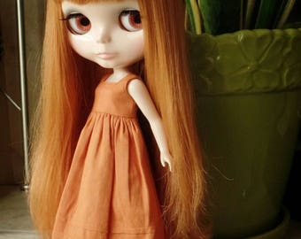 Summer dress for Blythe - Tangerine