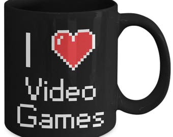 I Heart Love Video Games Console Computer Coffee Mug