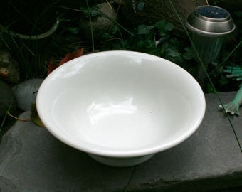 Lovely Large and Heavy White Ironstone Carr China Bowl