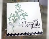 Wedding Card- Stampin' Up congrats to you Two