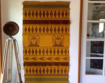 South American woven wall hanging
