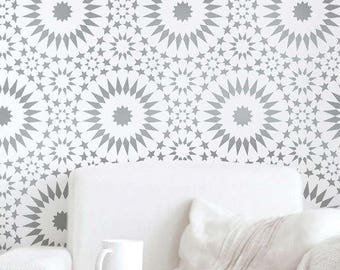 Ambrosia Tile Stencil - Easy Way to Improve Wall Decor - DIY Wall Art - Reusable Stencils for Home Makeover