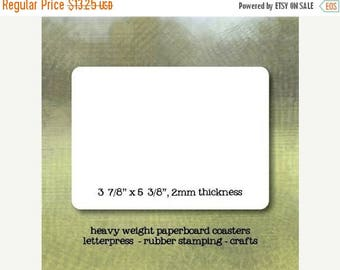 25% Off Summer Sale Postcard Size Rectangle Blank Paper Coasters - set of 50 - Crafting or Letterpress or Stamping