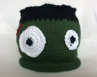 READY TO SHIP Knit Frankenstein Hat