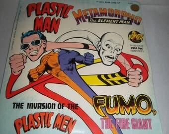 "Rare SEALED 1975 Power Records Peter Pan PLASTIC MAN Metamorpho The Element Man 7""  33 1/3 rpm Little Lp New"
