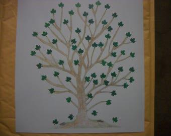 Nickey Nacks : Personalized Family Tree Print