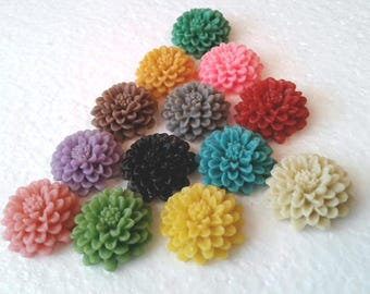 CIJ Special Chrysanthemum Spring Flower Clip On Earrings Choose Your Colors While Supplies Last
