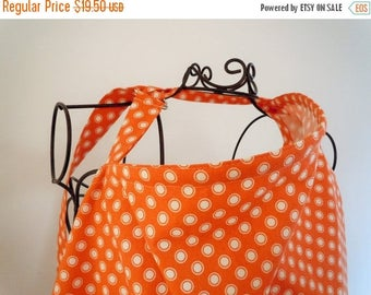 On Sale Couture Mama Nursing Cover - Burnt Orange Circle Dot - plus FREE set of Hooter Soothers Washable Nursing Pads