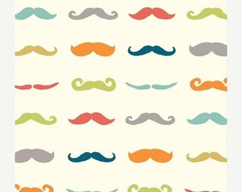 On Sale Mustaches - Organic Custom Crib Sheet