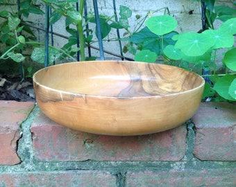 Mid Century lathe turned burl wood bowl