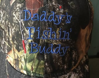 Daddy's Fishin' Buddy Camo Print Ball Cap Lightweight Summer Hat Fishing Hat