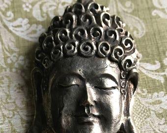Buddha, Buddha Pendant, Choose Color, Buddha Pendants. Pendant, Brass Pendant, Buddha Face