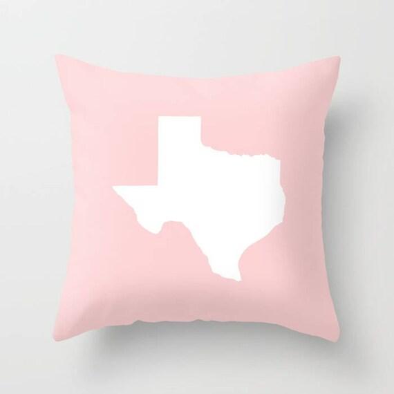 Texas Throw Pillow - Modern Blush Pillow - Texas Cushion - Pink Pillow - Texas Pillow - Texas State - Pillow - Texas Gift 16 18 20 24 inch