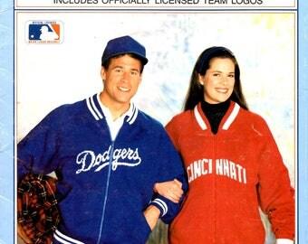 Major League Baseball Sweater Logos Atlanta Chicago Houston Pittsburgh New York Adult Small Medium Large XL Knit Pattern Craft Leaflet 272