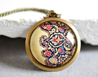 Oriental Carpets III Bronze Necklace