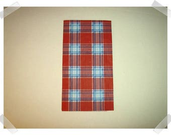 Paper Napkins for Decoupage- Red, White, Blue Plaid Design/Single Or Set of 2 /Craft Supplies**