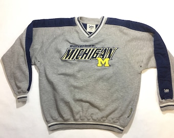 Michigan Wolverines Lee sport gray sweatshirt medium