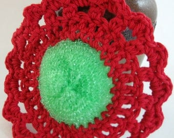 Crochet Dish Scrubbie, Pot Scrubber, Cleaning, Reusable, Cotton Scrubbie, Kitchen Scrubber, Dishcloth, Eco Friendly, Dish Scrubber