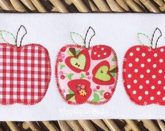 994 Apple Trio Machine Embroidery Applique Design