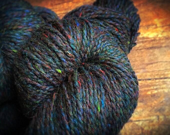 Peace Fleece - Bonnie Blue Gap, black wool knitting yarn