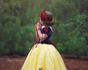 Snow White inspired princess dress size 24 month ball gown costume