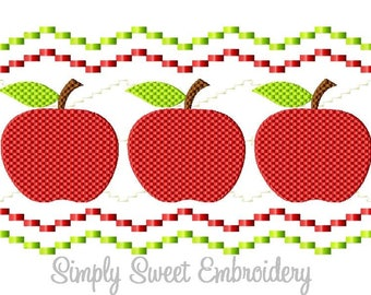 Faux Smocking Apples Machine Embroidery Design