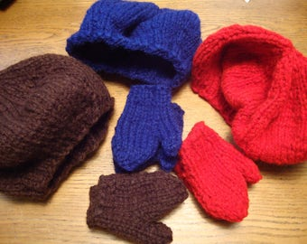 Reserved for Azaletha Young 3 sets hat and mittens fit American Girl