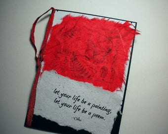 YOUR POETIC LIFE ~ Multi media collage greeting card, quote by Osho