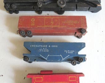 On SALE Vintage 1940's Miami Craft Wooden Toy Train