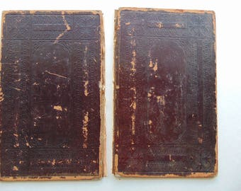 1870 Antique Leather Book Covers