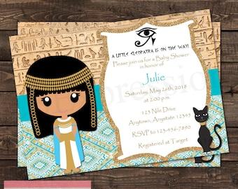 Cleopatra Egyptian Baby Shower invitation
