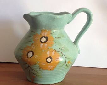Vintage Brentleigh Ware Java Jug, Vintage Hand Painted Small Art Deco Jug , Vintage Floral Jug