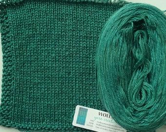 TEAL SILK HEATHER -- Sport Weight -- Silk/Cotton/Merino yarn (100 gr /320 yards)