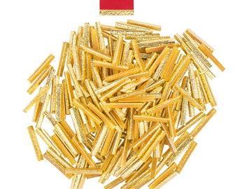 500pcs.  38mm or 1  1/2 inch - Gold No Loop Ribbon Clamp End Crimps - Artisan Series