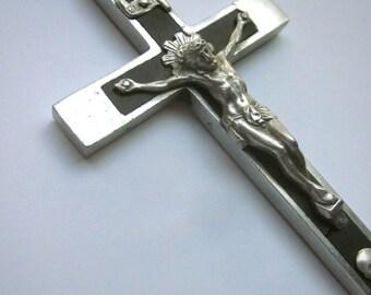 Vintage Nuns Priests Pectoral Crucifix Catholic Vintage Large Cross Skull Crossbones
