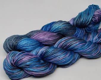 100% Bamboo (rayon type) Yarn: Blue, Hyacinth, Eggplant