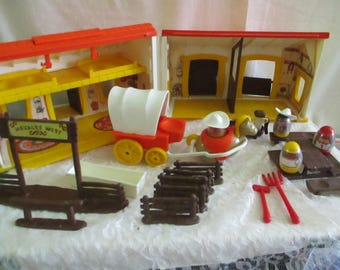 Weebles Western Town Set 1974 Hasbro