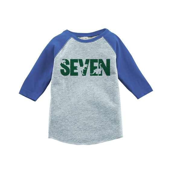 Dinosaur Seven Birthday Shirt