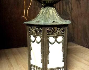 Vintage hanging Lantern, Outdoor/ Indoor Deco Lantern, Vintage Lighting