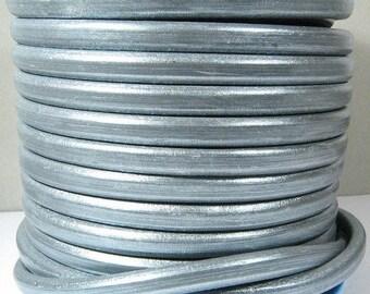 Regaliz Licorice Leather - Metallic Silver - RM3 - Choose Your Length