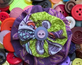 Yo Yo Bow-- You Pick -- Can be brooch/pin, headband, hair clip or barrette--Free Shipping