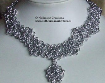 Chainmail Necklace Silver