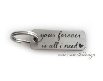 Your Forever Is All I Need Keychain Wife Girlfriend Keychain Anniversary Keychain Dream Big Keychain Gift Wife Gift Anniversary Birthday